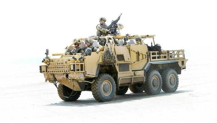 Supacat Coyote 6x6 wheeled tactical support vehicle.