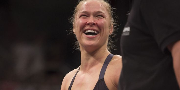 Now, Ronda Rousey fights like a girl for sure.