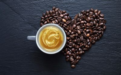 Love for coffee wallpaper