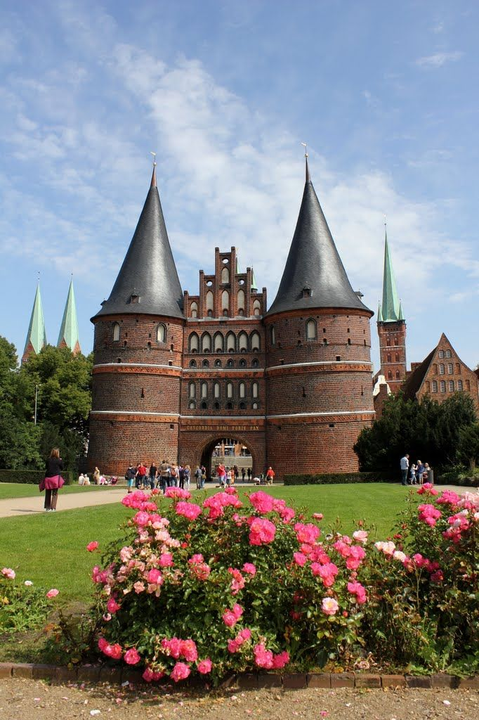 Holstentor, Lübeck, Germany - Definitely put this Hanseatic town on your day trip list when you're in Lüneburg. #germany #wherewillyougo