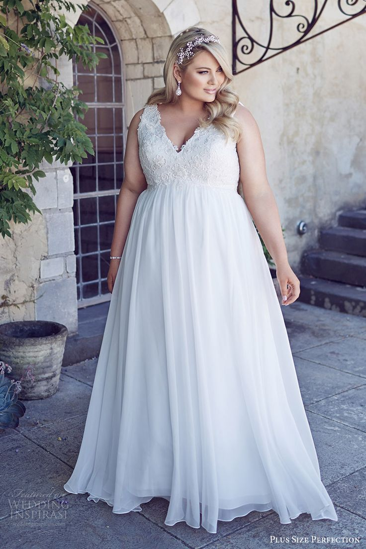 11519 best plus size wedding dresses and more images on for Empire waist plus size wedding dress