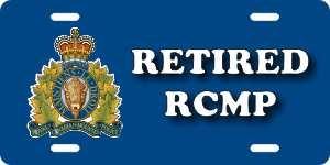 RCMP Retired License Plates