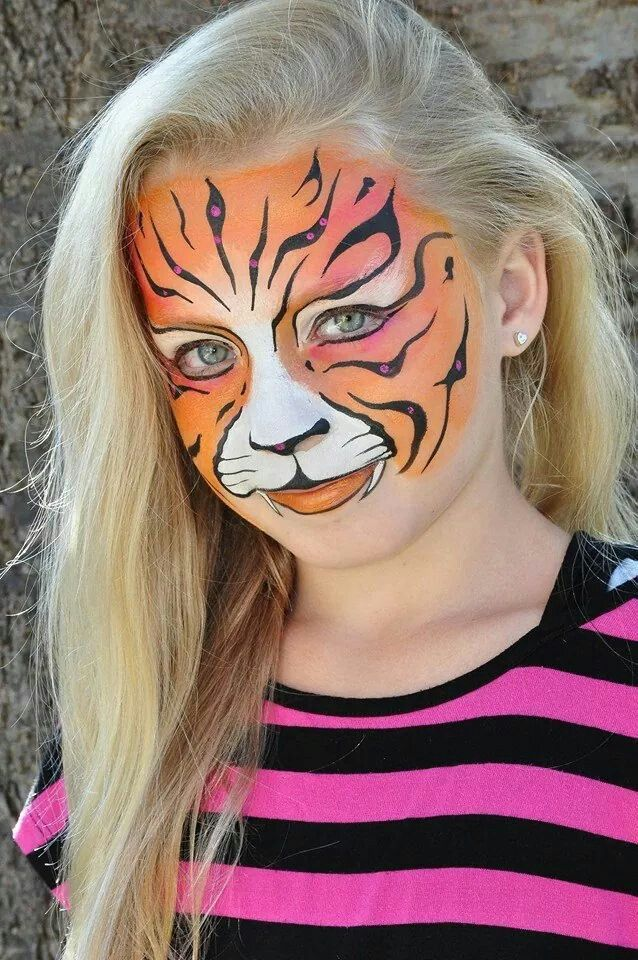 21 best wilde dieren schminken images on pinterest face paintings painted faces and face. Black Bedroom Furniture Sets. Home Design Ideas