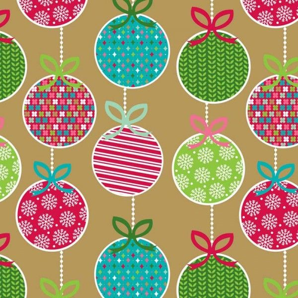 BOUNCING BAUBLES Gift Wrap