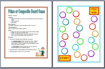Prime or Composite Board Game - Amber Thomas - TeachersPayTeachers.com