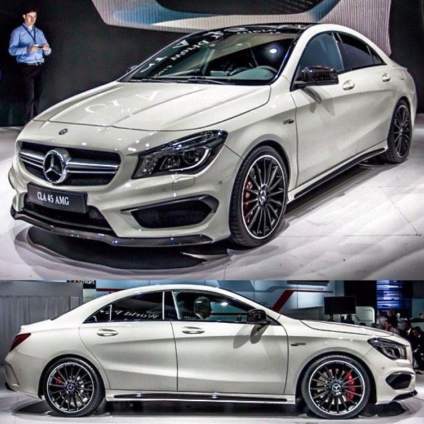 El Mercedes-Benz CLA-Class es un compacto de cuatro puertas sedán de lujo desarrollado y fabricado por Mercedes-Benz , basado en la plataforma de la Mercedes-Benz W176 A-Class y W246 Clase B autos compactos , lanzado formalmente en el 2013 North American International Auto Show, esta version es el Mercedes-Benz CLA45 AMG