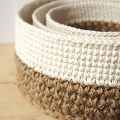 crochet pattern: stacking baskets | JaKiGu♪ ♪ ... #inspiration #diy GB http://www.pinterest.com/gigibrazil/boards/