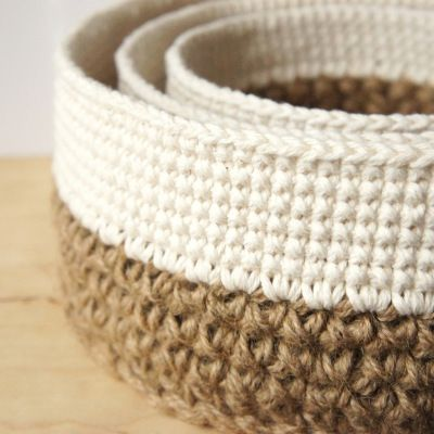 crochet pattern: stacking baskets | JaKiGu♪ ♪ ... #inspiration #diy GB http://www.pinterest.com/gigibrazil/boards/