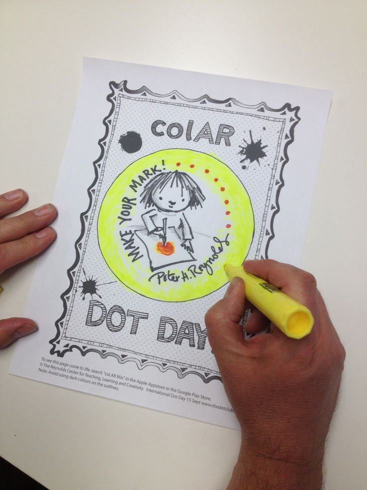 International Dot day campaign creator made his own mark