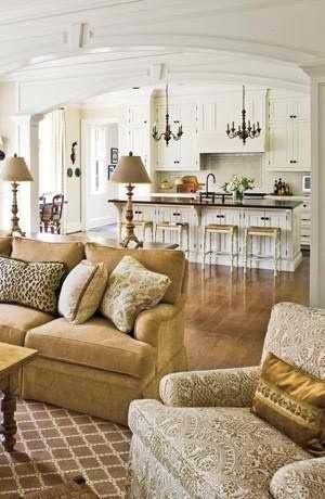 Great open floor plan & colors