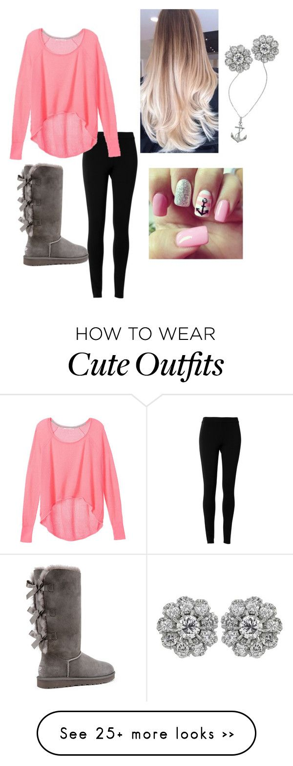 """Love the uggs w/ this outfit"" by genevannoord on Polyvore featuring Max Studio, Victoria's Secret, UGG Australia and Lafonn"