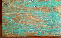 Tavolo olandese verde/turchese, colori originali, Java, Indonesia. Inizi del '900, legno teak. Misure: 185 x 72 h 78 cm CHF 3'100.-
