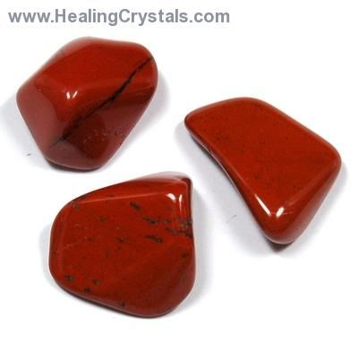 """Red Jasper: ~ is used for dream recall. Place red jasper under your pillow to help you remember dreams. It is a protection stone for the night. Red jasper is a good stone to keep with you and use as a """"worry"""" stone. The more jasper is handled the more calming vibrations it sends out. A large jasper stone keeps negativity out a ritual room."""