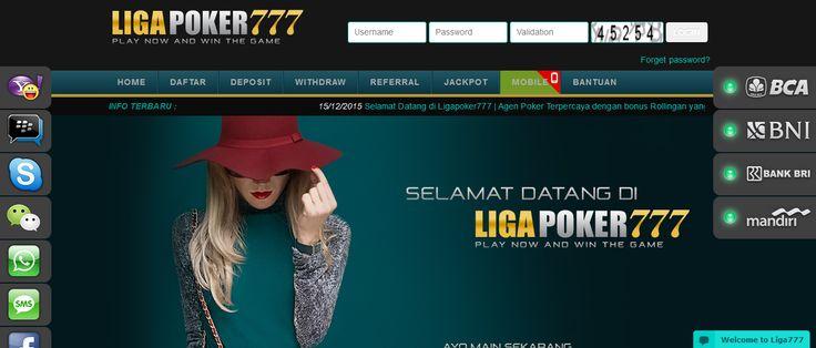 LIGAPOKER777 merupakan Agen Poker Online, DominoQQ terpercaya. Dengan Uang Asli Indonesia, Minimal deposit Rp.10.000.Daftar Sekarang juga di LIGAPOKER777.