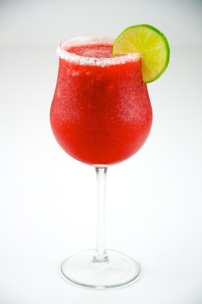 Thermomix Strawberry Daiquiri. (Made non alcoholic though of course!)