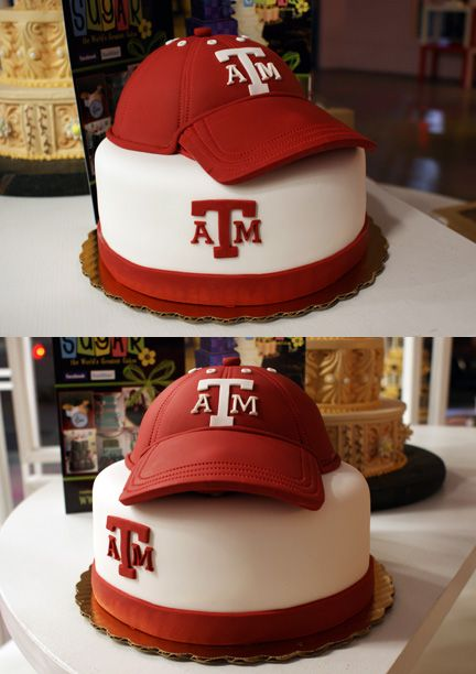Texas AM Cakes | Ball Cap! | Oklahoma's Premier Wedding Cake Designer and Sugar Artist