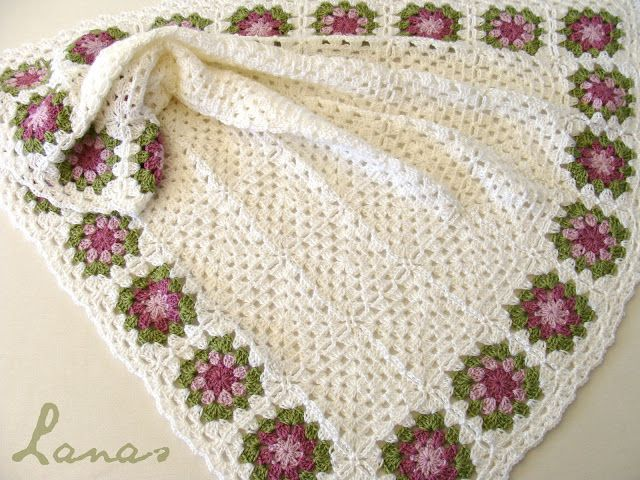 Flower Border Blanket (Lanas Hilos)