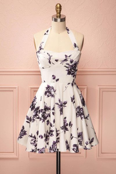 Iris Pink Champagne ♥ L'imprimé romantique de cette robe estivale vous mettra de…