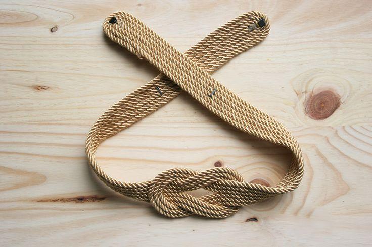 Decorar en familia _Diy cinturón de cordón de seda dorado5