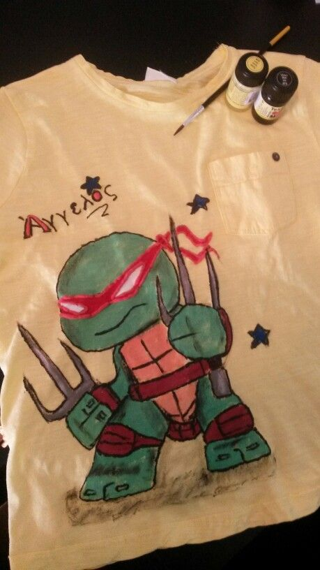 #Tmnt, #handpainted, #Raphael handpainted tshirt  hand painted t shirt, cotton fabric, non-toxic, water based, permanent fabric colors