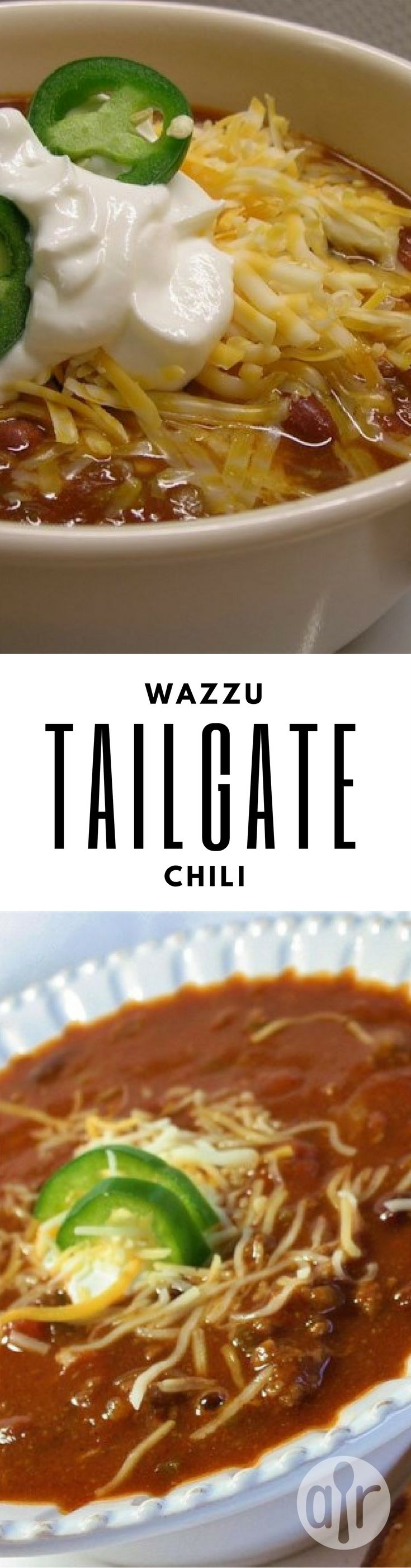 """Wazzu Tailgate Chili   """"This is a great and simple chili, full of flavor, and plenty of spice. It's best when refrigerated overnight and reheated before the game."""" #recipe #football"""