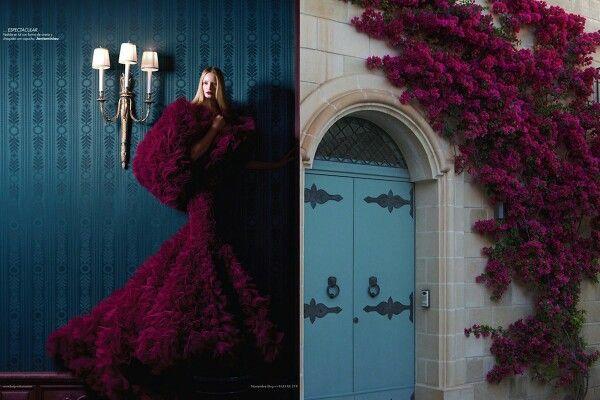 red purple me rune fluffy dress inspired by beautiful flower tree