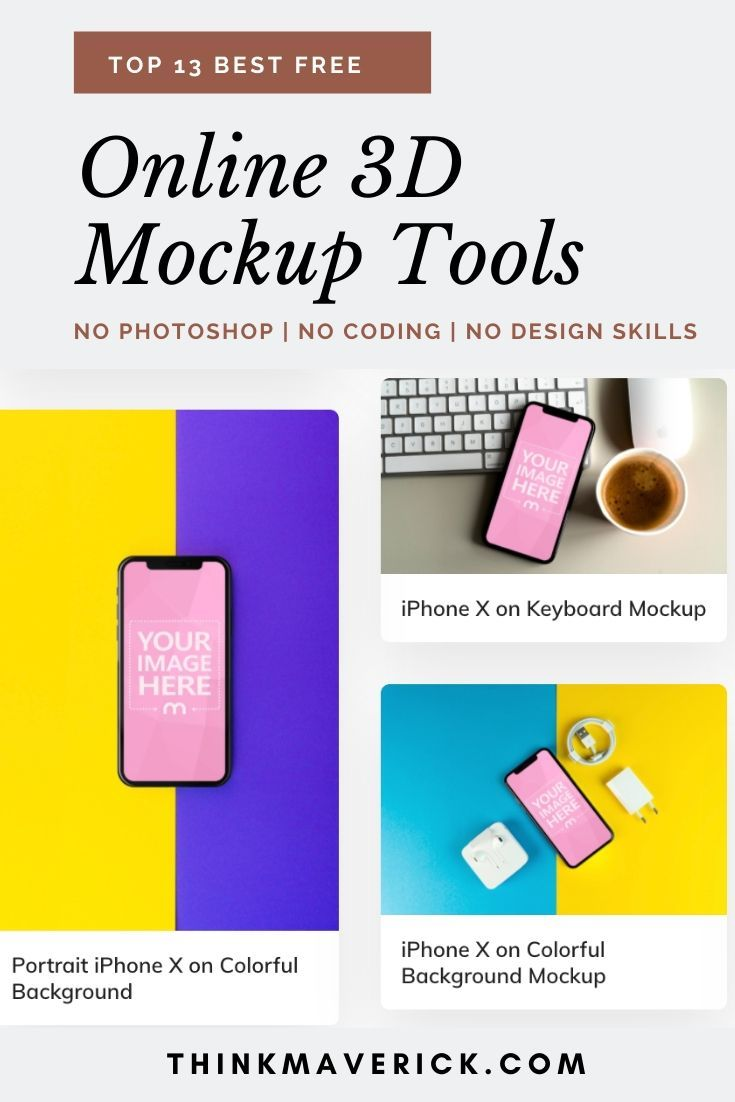 13 Best Free Online Tools To Create 3d Mockups In Seconds No Photoshop Needed Thinkmaverick My Personal Journey Through Entrepreneurship Create Business Cards Blog Tools Design Skills