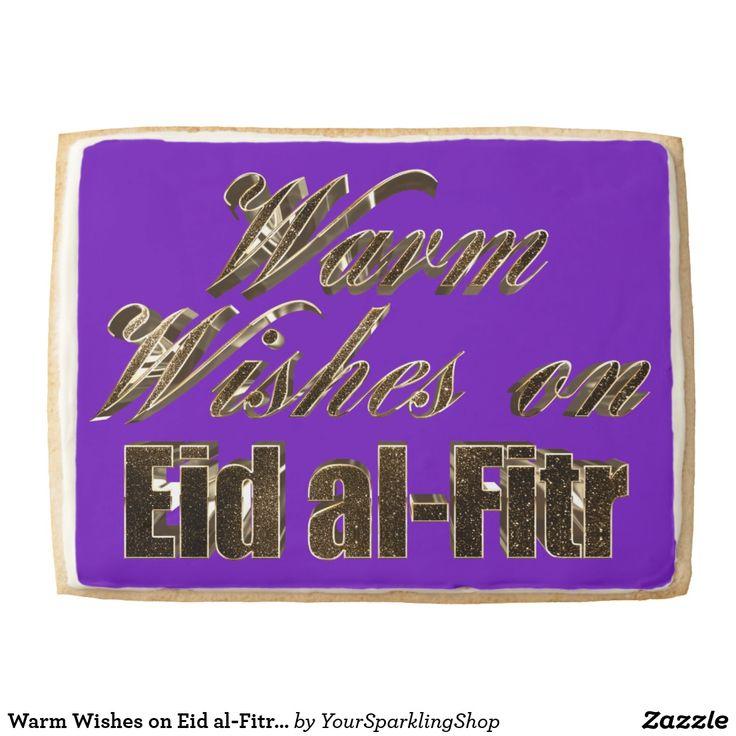 Jumbo #shortbread #cookie Warm Wishes on Eid al-Fitr Purple Gold Typography