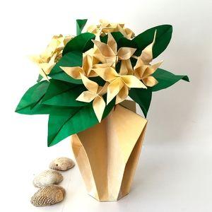 Origami flower bouquet vase origami tutorial lets make it 97 best medium origami flower arrangements images on mightylinksfo