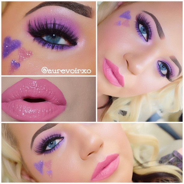 .@aurevoirxo   Valentines Day Makeup Look Demi Lovato - Give Your Heart A Break #faceofthed...   Webstagram - the best Instagram viewer