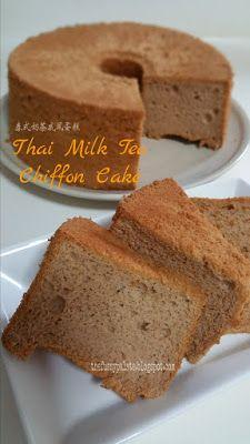 The Fussy Palate: Thai Milk Tea Chiffon Cake