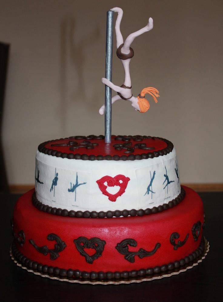 pole dance cake :D