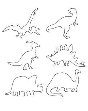 Multiple Dinosaur Stencils Printable Crafts