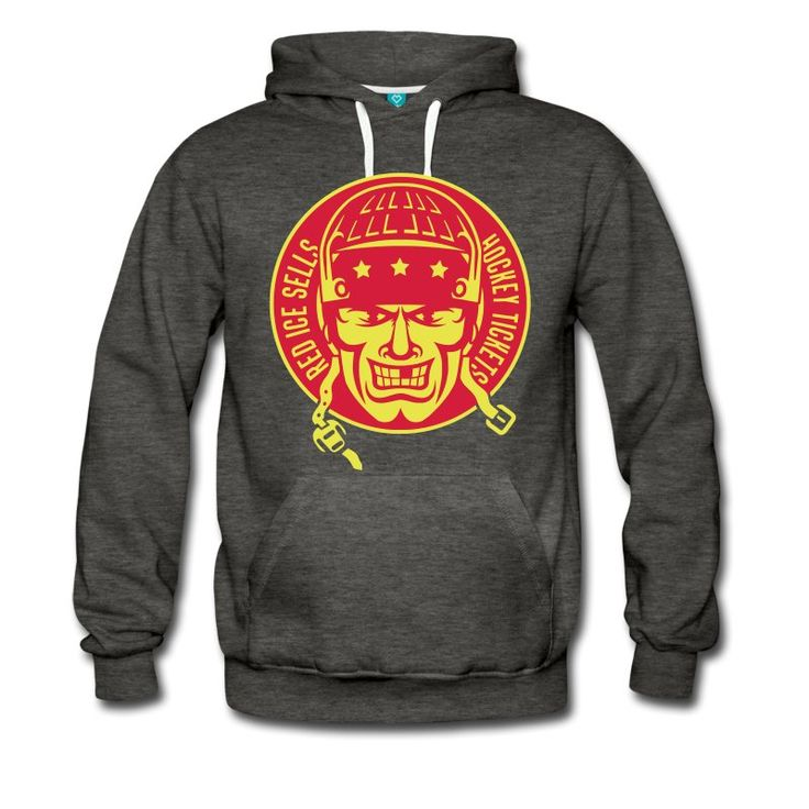 Red Ice Sells Hockey Tickets, heavy fleece hockey hoodie. One of many ice hockey hoodies available from Two, Five & Ten Hockey Apparel, priced from £30.99. #IceHockey #hockeyhoodies #hockeyhoody #Spreadshirt #HockeyDesigns #eishockey