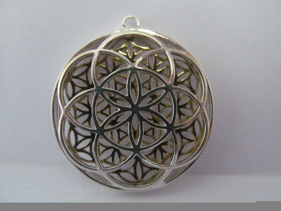 37 best puzzle rings images on pinterest puzzle ring flower of items similar to sacred geometry flower of life seed of life silver matrix pendant on etsy mozeypictures Gallery