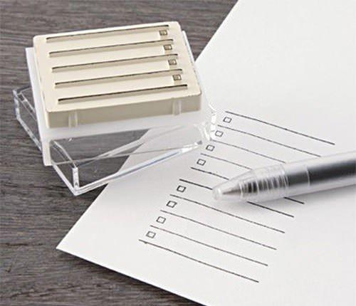 Checklist Rubber Stamp via Muji Stores