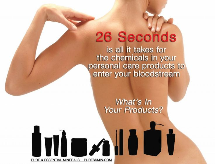 Natural Skin Care Infographic 26 Seconds For Chemicals
