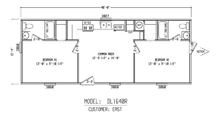 Bunkhouse plans bunk house 16x40r cabins pinterest for Bunkhouse floor plans
