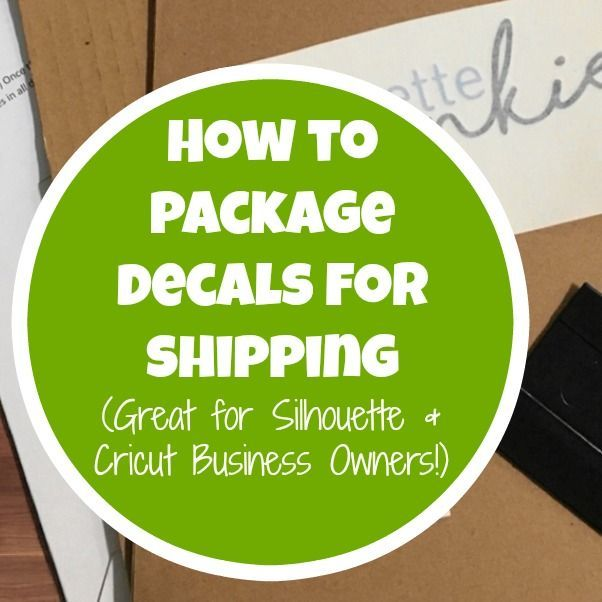 Learn how to package your custom decals for shipping in your Silhouette Cameo or Cricut small business.