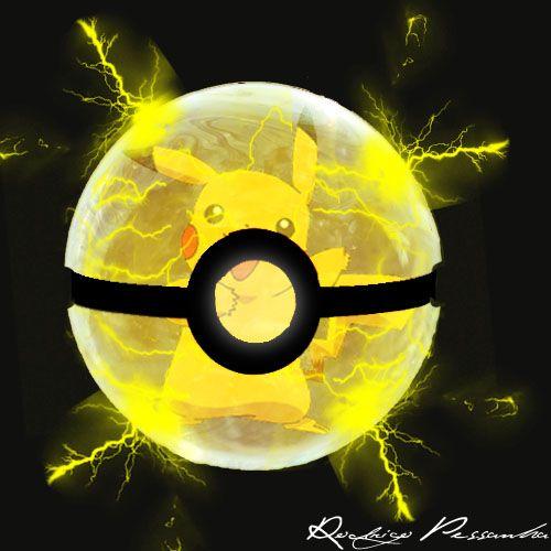 Pikachu inside the PokeBall by rodrigopessanha.deviantart.com on @DeviantArt