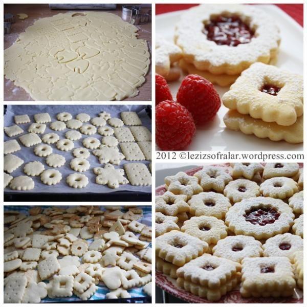 linzer kurabiye yapim