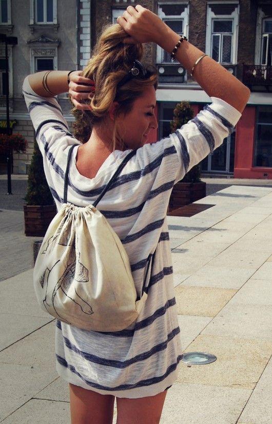 torebki różne - unisex-Worek plecak torba eco autorski nadruk bawełna