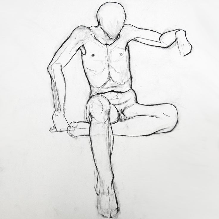 quick contour figure drawing | Sitting Anatomical Drawing