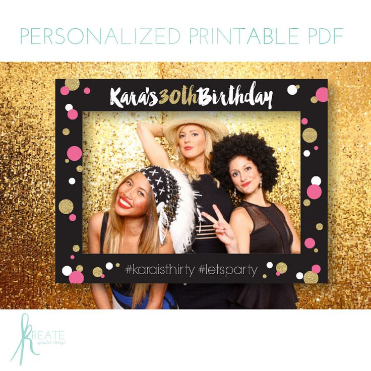 Printable Large Photo Frame Prop Diy By Kreategraphicdesign Vics