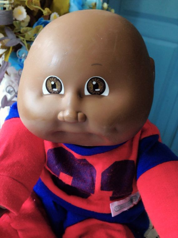 Vintage 1980s Cabbage Patch Kids African American Doll On