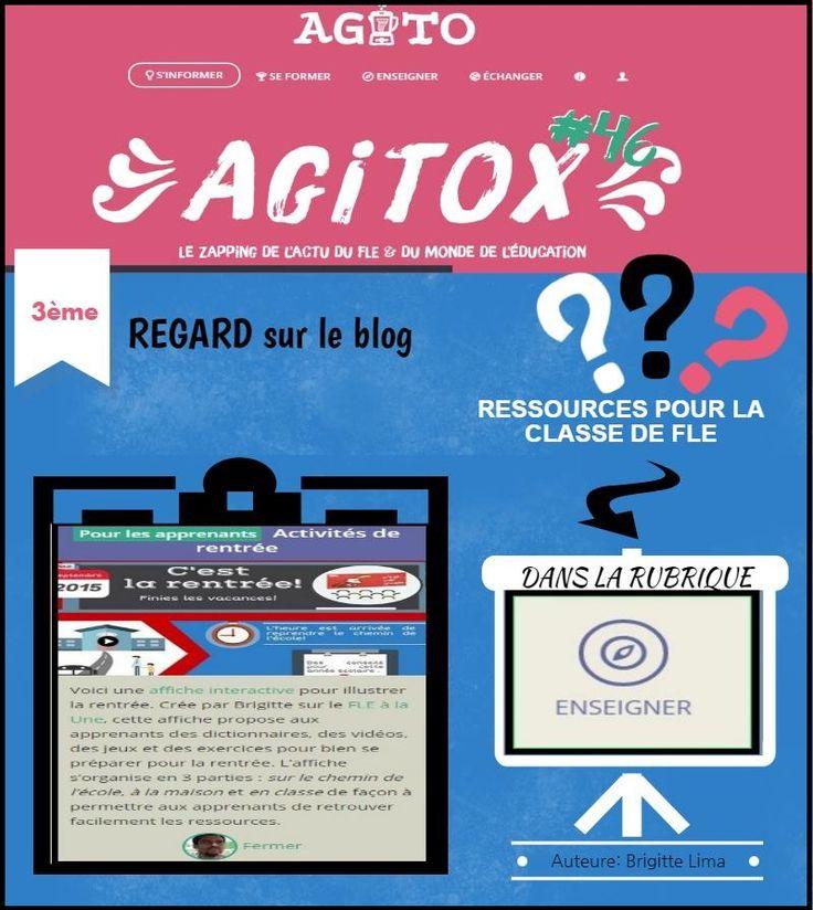 Le blog Le FLE à la Une sur Agitox 46 by Brigite Lima