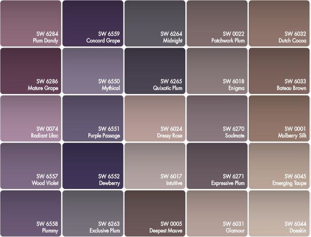 297 best home decor colors images on pinterest wall for Purple mauve color
