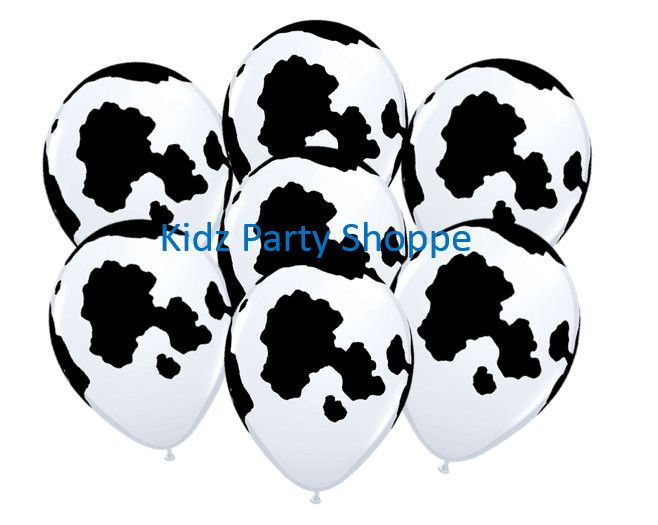COW PRINT Latex Balloons Birthday Farm Barnyard Party Supplies Decorations