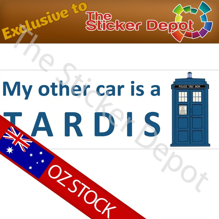 Doctor Who My Other Car is a Tardis Bumper Sticker - stickerdepot.com.au