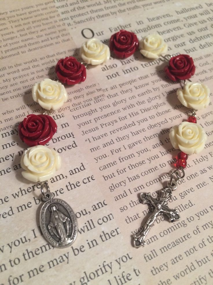 A personal favorite from my Etsy shop https://www.etsy.com/listing/233768981/roses-mother-mary-chaplet-handmade-gift